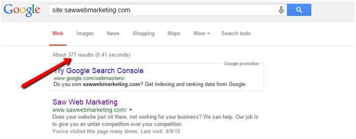index status - Marketing in the Age of Google