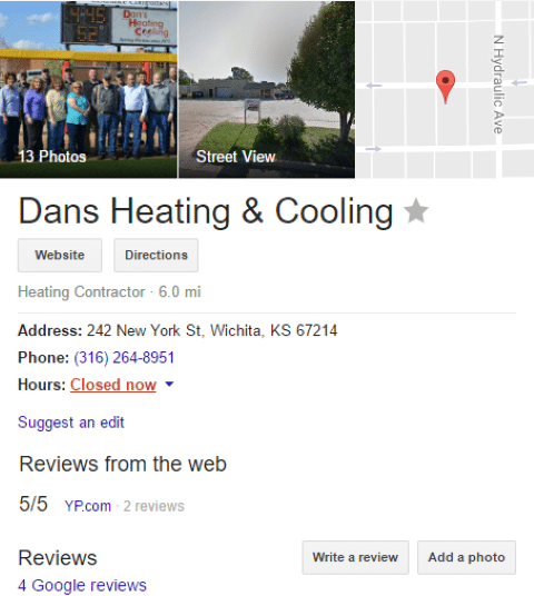 HVAC Santa Post Image 31 Small - Are you tired of seeing Cooks, Hannah and Fahnestock at the top of Google?