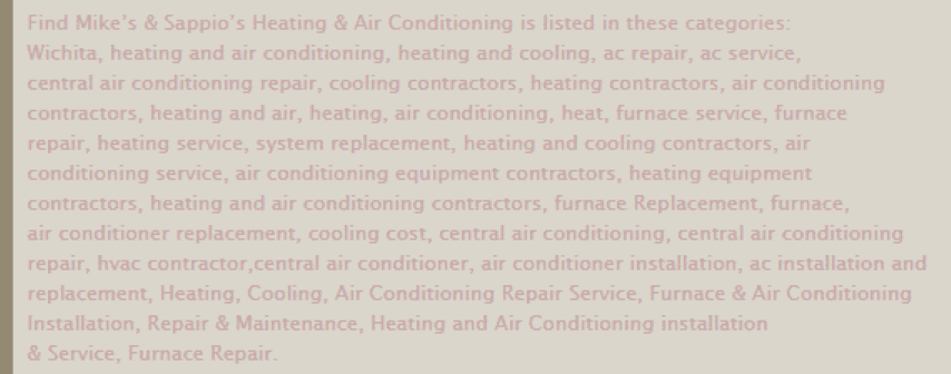 HVAC Santa Post Image 52 Small - Are you tired of seeing Cooks, Hannah and Fahnestock at the top of Google?