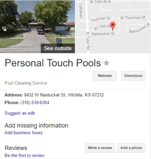 Pool Post Image 35 - Little Richards Pools Can OWN Google (here in Wichita)