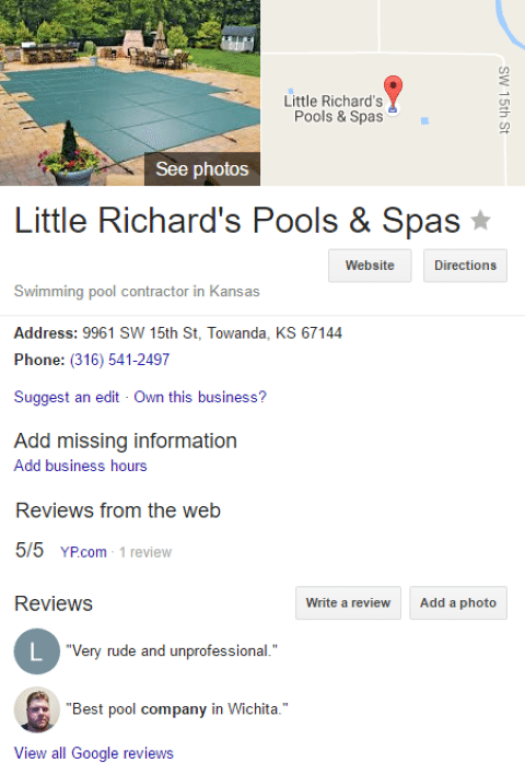 Pool Post Image 38 - Little Richards Pools Can OWN Google (here in Wichita)