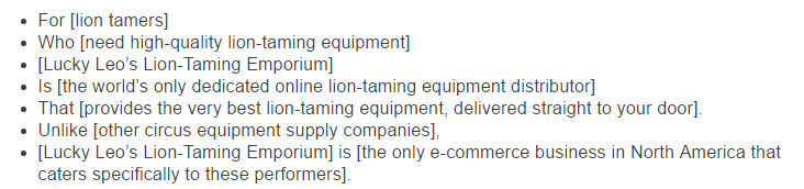 Lion tamers  - What Is Your Unique Selling Proposition?