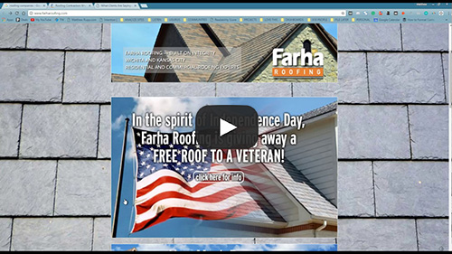Hats off to Farha LOVE the free roof for a vet - Roofing Companies