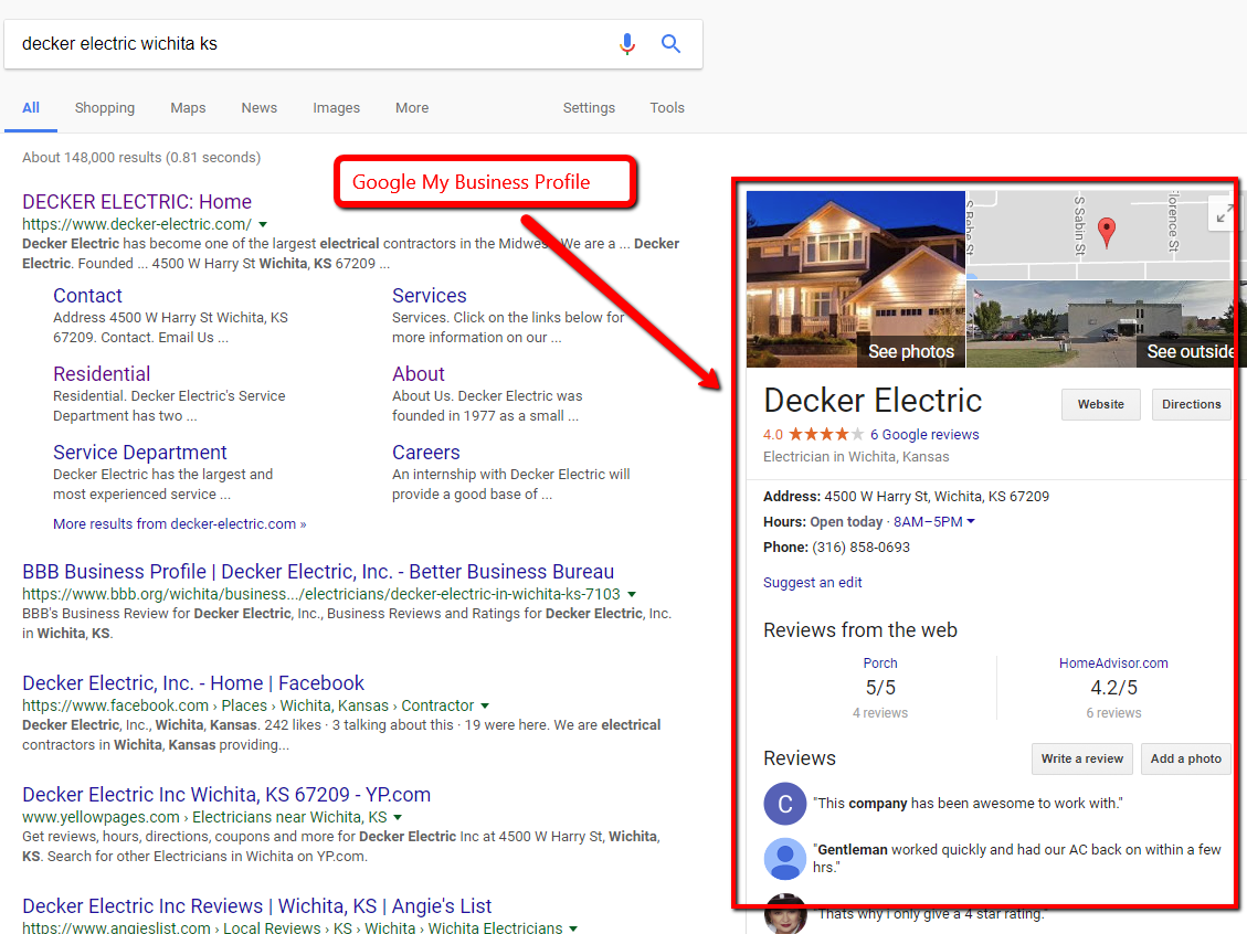 How Electricians in Wichita Rank on Google | Matthew Rupp Consulting