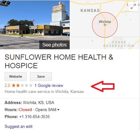 1.1 - Step-by-step guide to increase the website traffic, online visibility and Google rankings for Sunflower Hospice