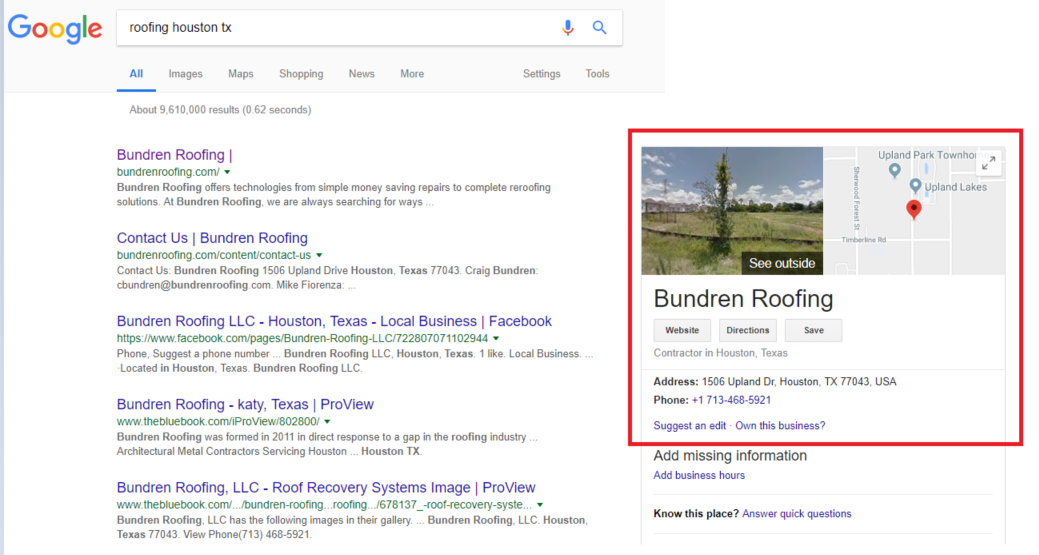 11 - Step-by-step guide to increase the website traffic, online visibility and Google rankings for Bundren Roofing
