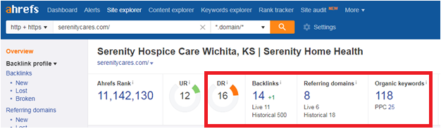 19 6 - Step-by-step guide to increase the website traffic, online visibility and Google rankings for Serenity Hospice