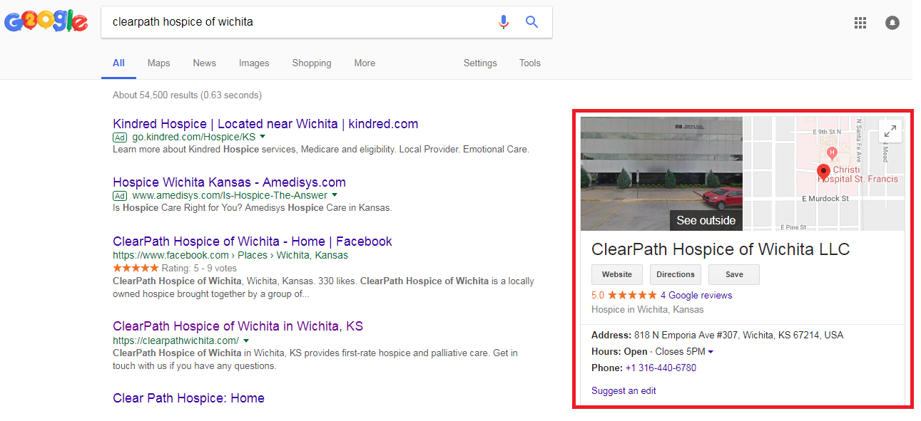 2 8 - Step-by-step guide to increase the website traffic, online visibility and Google rankings for ClearPath Hospice
