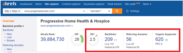 21 7 - Step-by-step guide to increase the website traffic, online visibility and Google rankings for Progressive Hospice