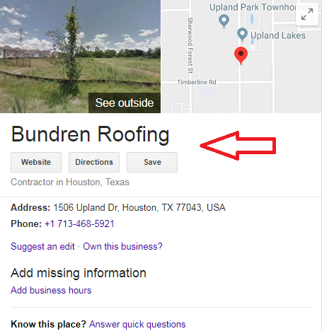 27 - Step-by-step guide to increase the website traffic, online visibility and Google rankings for Bundren Roofing