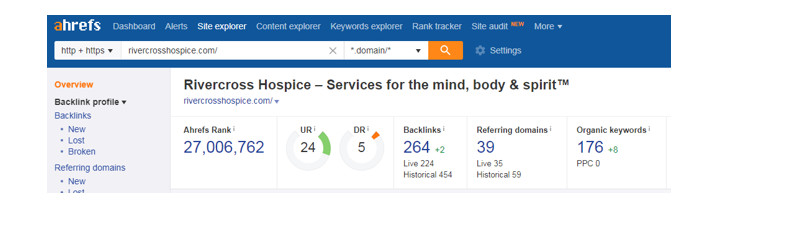 Screenshot 4 5 - Step-by-step guide to increase the website traffic, online visibility and Google rankings for Serenity Hospice