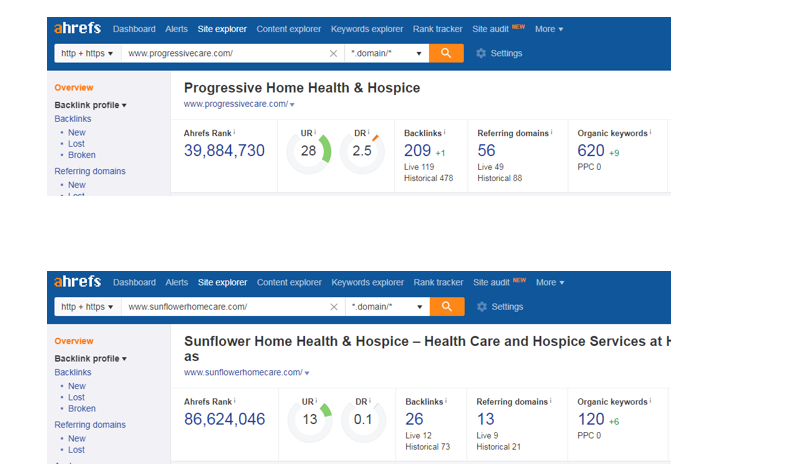 Screenshot 5 5 - Step-by-step guide to increase the website traffic, online visibility and Google rankings for Serenity Hospice