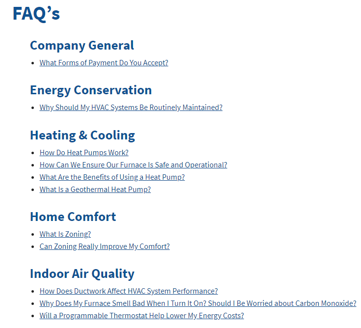 Content Comfort FAQ Copy - Are you tired of seeing another OKC HVAC company at the top of Google?