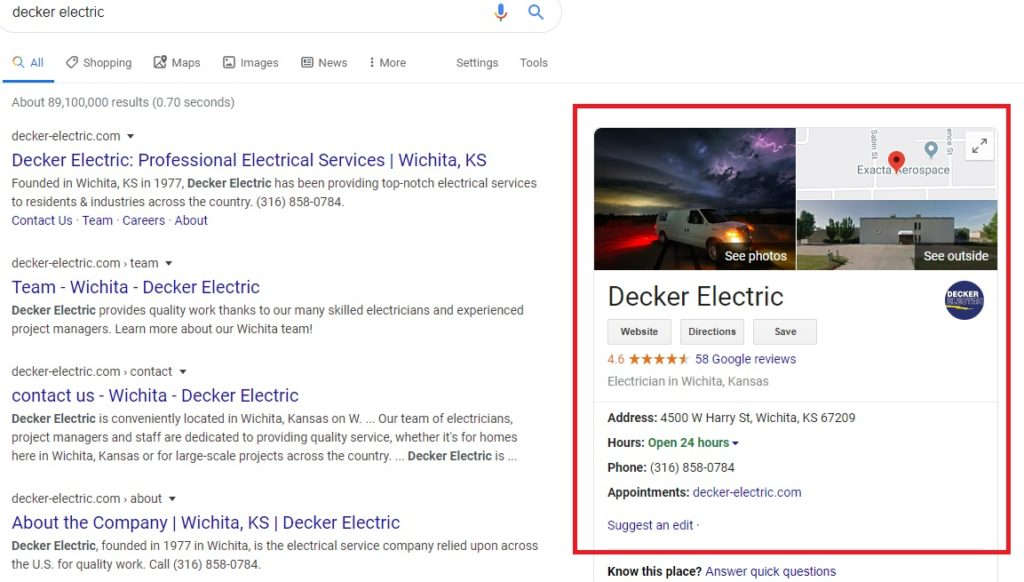 GMB Decker 1024x582 - Are you tired of seeing Schaal, Bell Brothers, and Lozier at the top of Google?