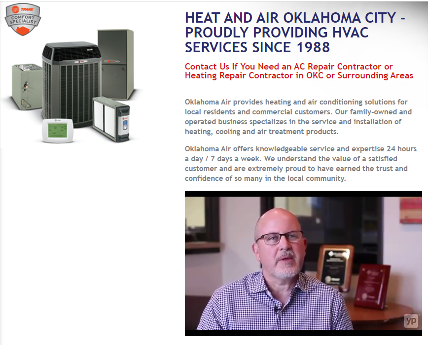 VID OkAir GREAT - Are you tired of seeing another OKC HVAC company at the top of Google?