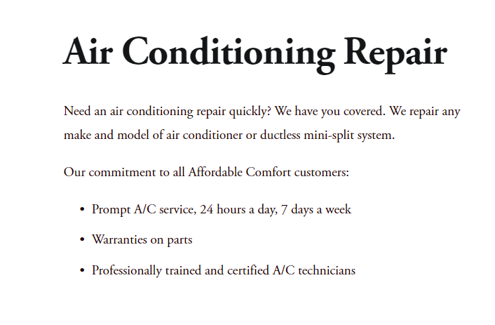 CONTENT Affordable slim - Best HVAC companies in Phoenix, AZ