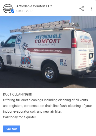 GMB AffordableCOmf - Are you tired of seeing another Phoenix HVAC company at the top of Google?