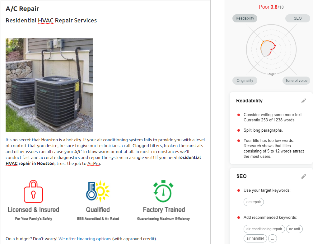 OPT AirPro ACRepair - Are you tired of seeing another Houston HVAC company at the top of Google?
