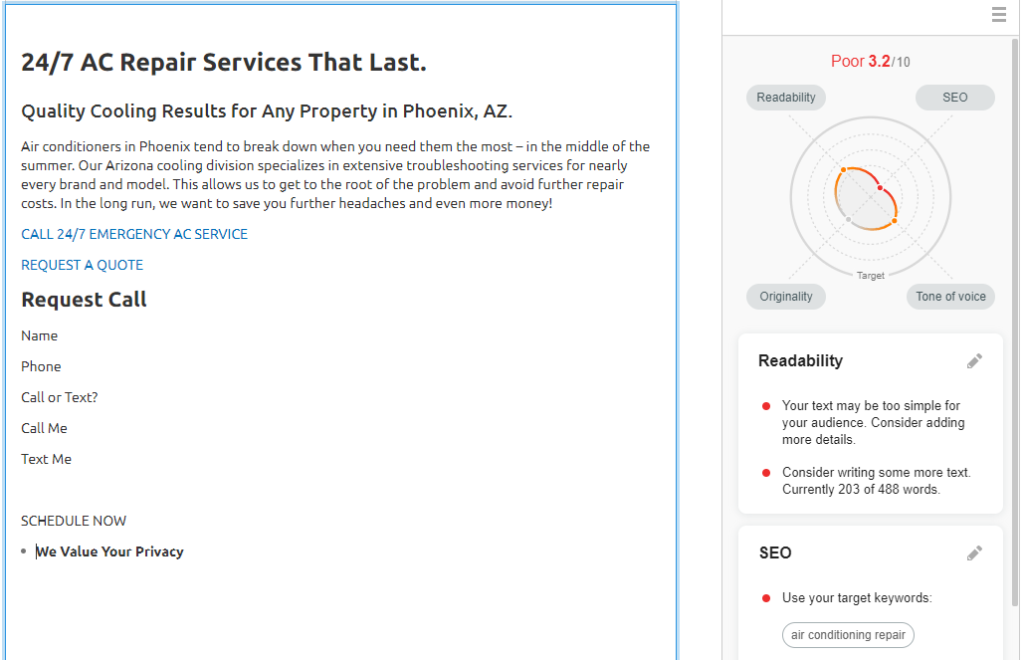 OPT Canyon ACRepair 1024x660 - Are you tired of seeing another Phoenix HVAC company at the top of Google?