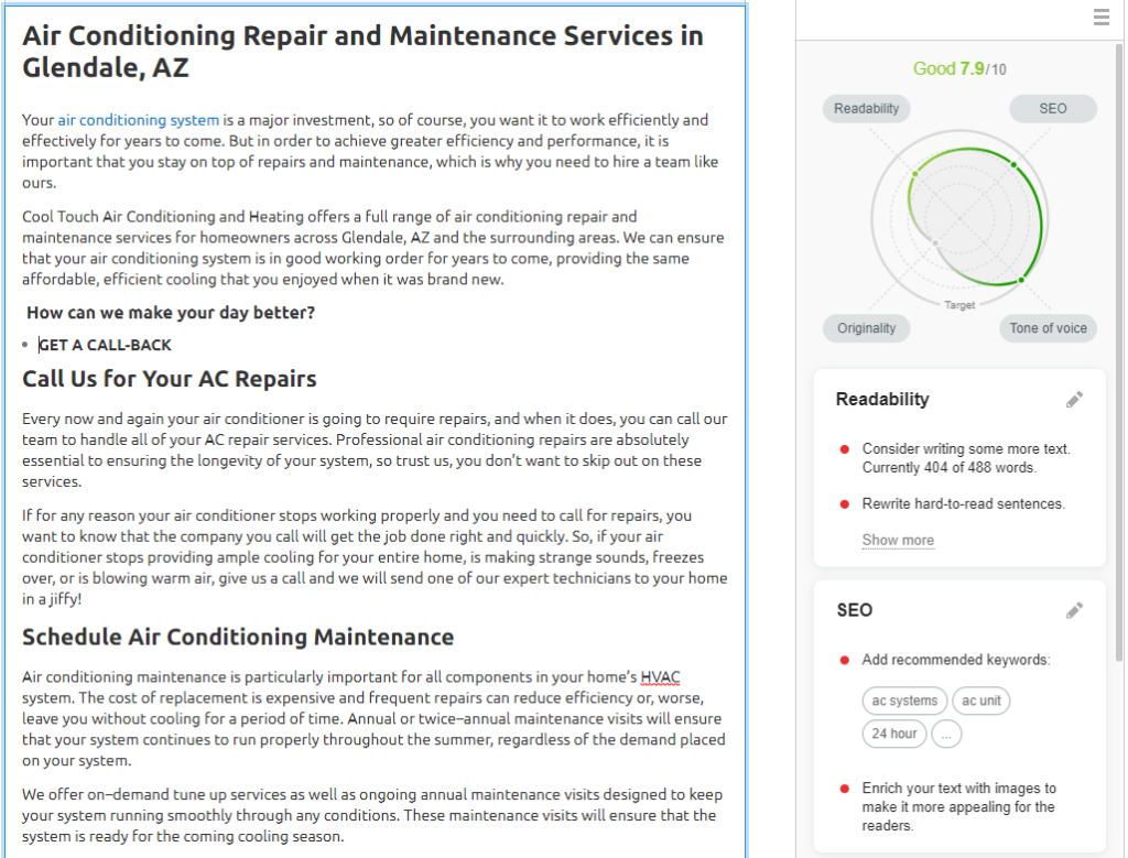 OPT CoolTouch ACRepair 1024x779 - Are you tired of seeing another Phoenix HVAC company at the top of Google?