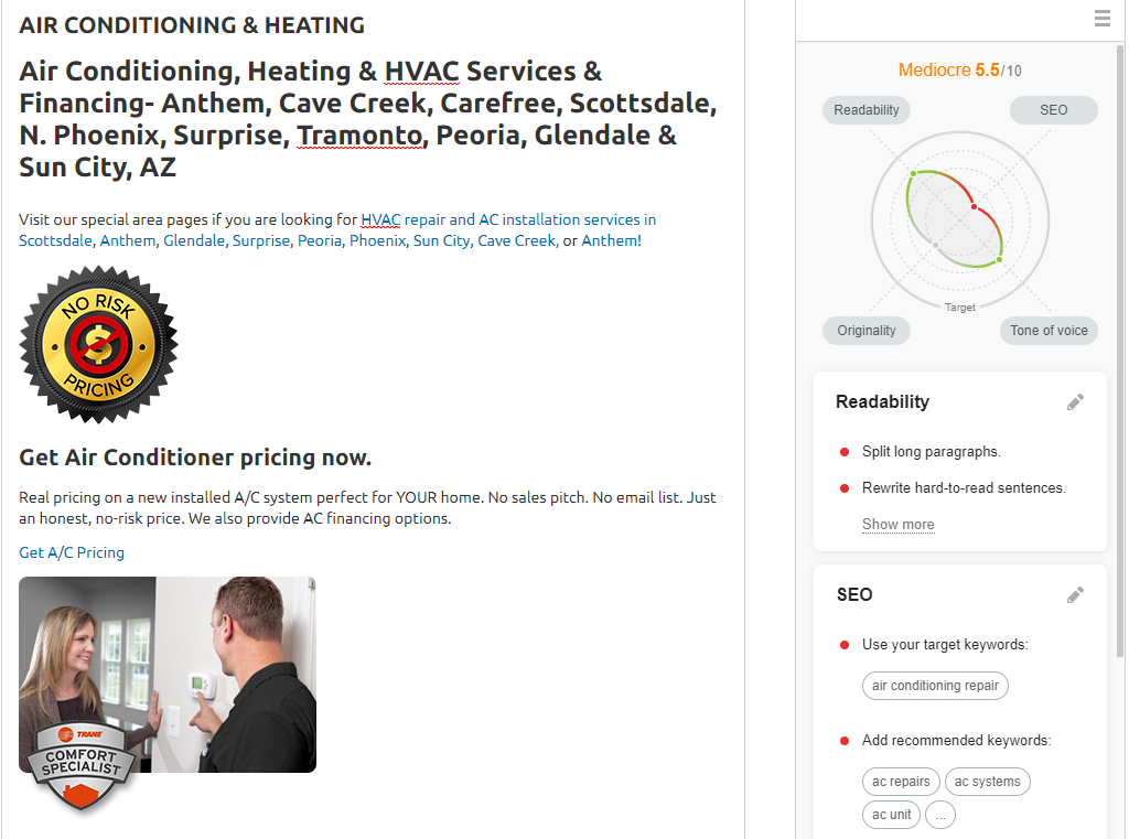 OPT ProSkill ACREpair - Are you tired of seeing another Phoenix HVAC company at the top of Google?