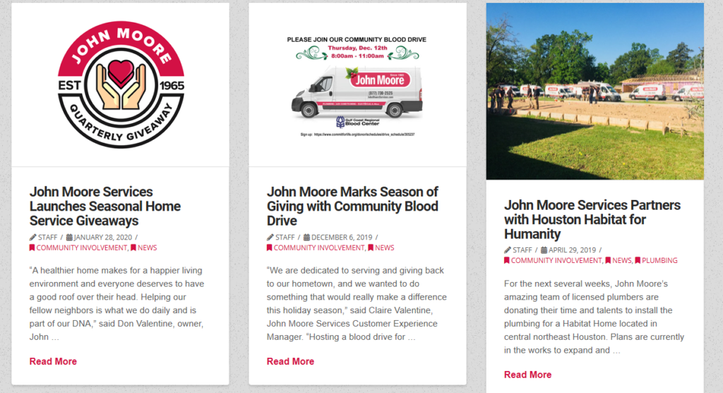 TELL JohnMoore community 1024x556 - Are you tired of seeing another Houston HVAC company at the top of Google?