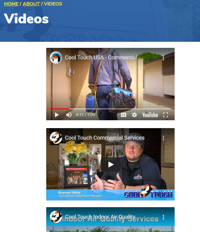 VID CoolTouch page - Are you tired of seeing another Phoenix HVAC company at the top of Google?
