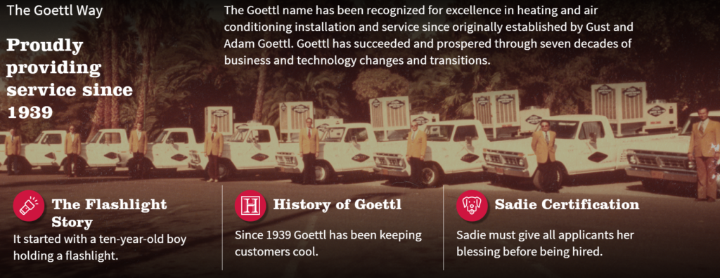 WEB Goettl HISTORY 1024x396 - Are you tired of seeing another Phoenix HVAC company at the top of Google?