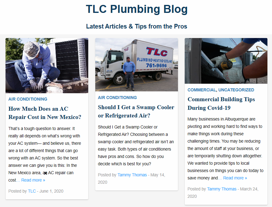 Content TLC blog - Are you tired of seeing another Albuquerque HVAC company at the top of Google?