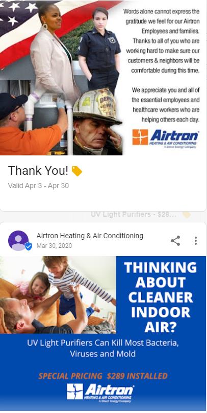 GMB Airtron Posts - Best HVAC Companies in Dallas, TX
