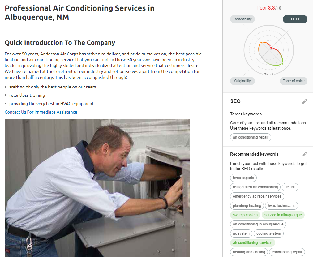 OPT Anderson ACRepair - Are you tired of seeing another Albuquerque HVAC company at the top of Google?