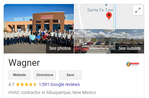 REviews Wagner - Are you tired of seeing another Albuquerque HVAC company at the top of Google?