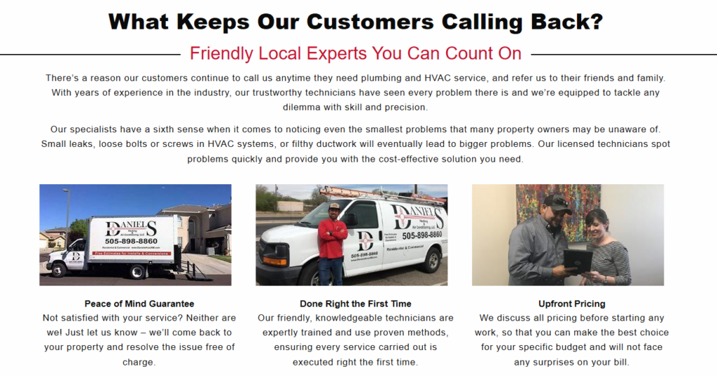 Web Daniels pics 1024x537 - Are you tired of seeing another Albuquerque HVAC company at the top of Google?
