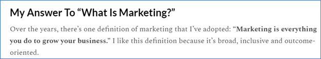 Accrue Marketing snippet - Marketing Through Your Customers' Eyes