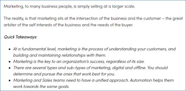 Mkting Insider - Marketing Through Your Customers' Eyes